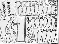 Fresque de la tombe d'Antef