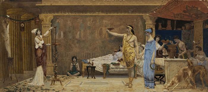 Le cottabe, par Anatolio Scifoni