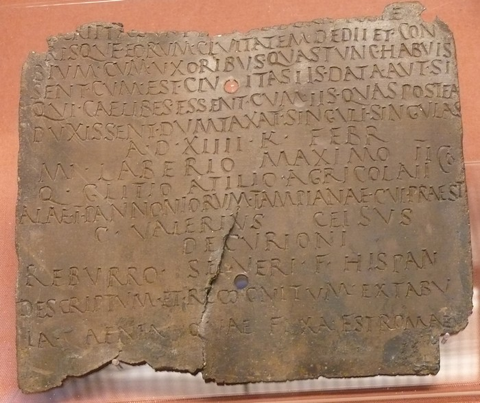 Diplôme militaire romain, British museum