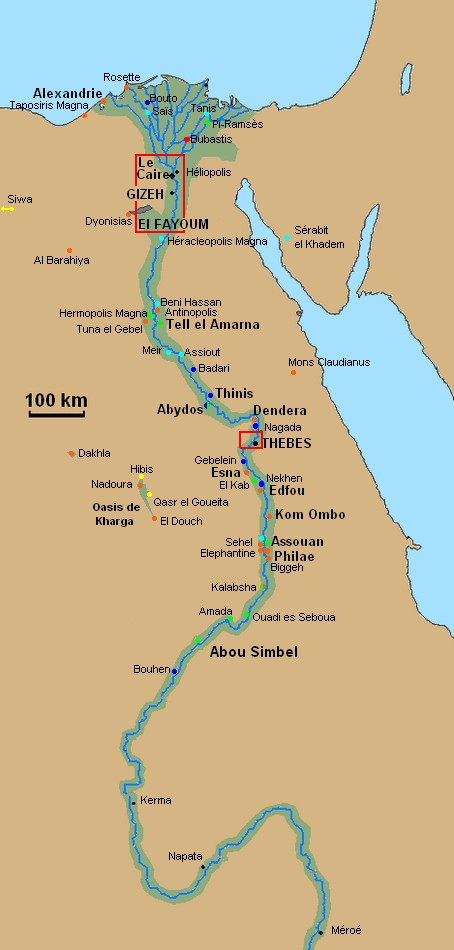 Interactive Map Of The Archaeological Sites And The History Of Egypt - Egypt interactive map